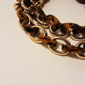 Coldwater Creek Animal Print Linked Chain Necklace